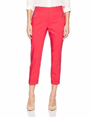 Chaus Women's Zipper Pocket Cuffed Crop Pant