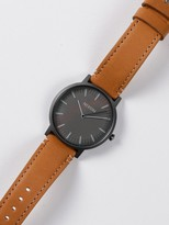 Nixon Mens Porter Leather 40mm Watch in Tan & Black