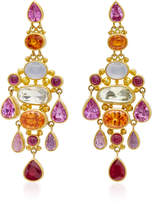 Mallary Marks Chandelier Pink Sapphire Earrings