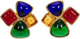 One Kings Lane Vintage 1980s Chanel Multicolor Gripoix Earrings