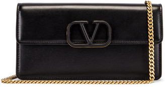 Valentino VSling Wallet on Chain Bag in Black | FWRD