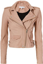 IRO Hana Moto Leather Jacket: Blush