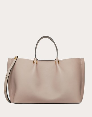Valentino Medium Vlogo Escape Grainy Calfskin Shopper. Women Poudre 100% Pelle Di Vitello - Bos Taurus OneSize