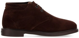 Salvatore Ferragamo Lace Up Desert Boots