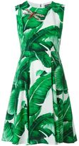Dolce & Gabbana banana leaf print dress