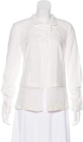 Ann Demeulemeester Embroidered Button-Up Top