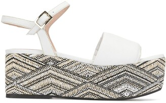 Madison.Maison Woven Leather 50mm Wedge
