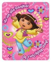 Kids Favorite Character Fleece Blanket - Dora the Explorer Sunshine