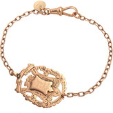 Annina Vogel 9ct rose-gold Knowledge Comes But Wisdom Lingers Medallion Antique bracelet