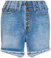 Faith Connexion Distressed Effect High Waist Denim Shorts