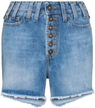 Faith Connexion distressed effect high waist denim shorts