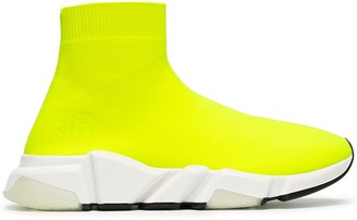 Balenciaga yellow Speed neon knitted sneakers