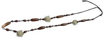 Isabel Marant Beige Metal Long necklaces