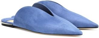 Jimmy Choo Tahla Flat suede slippers