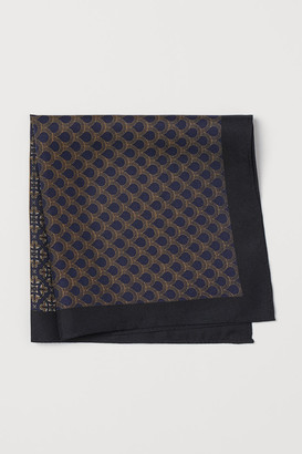 H&M Patterned Silk Handkerchief - Blue