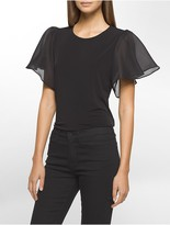 Calvin Klein Flutter Sleeve Top