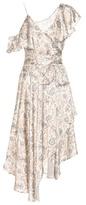 Zimmermann Stranded Wrap printed silk midi dress