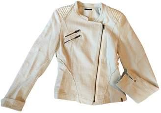 Ikks Ecru Cotton Jacket for Women