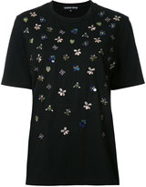 Markus Lupfer embroidered T-shirt - women - Cotton - XS