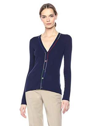 Theory Women's Button Front Multi Color Linked Cardigan