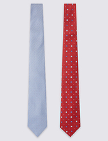 M&S Collection 2 Pack Assorted Tie