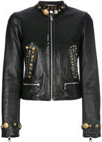 Dolce & Gabbana embellished leather jacket