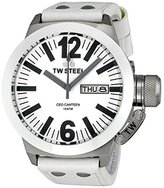 TW Steel Men's Stainless Steel Case Ceo Canteen Quartz Dial Leather Strap