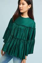 Ne Quittez Pas Tiered Silk Blouse
