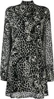 Saint Laurent graphic print shirt dress