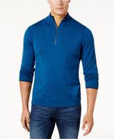 Michael Kors Men's Merino Wool Quarter-Zip Sweater