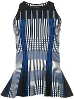 Roland Mouret peplum linear stripe top