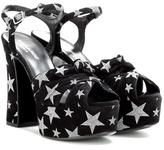 Saint Laurent Candy 80 Bow platform sandals