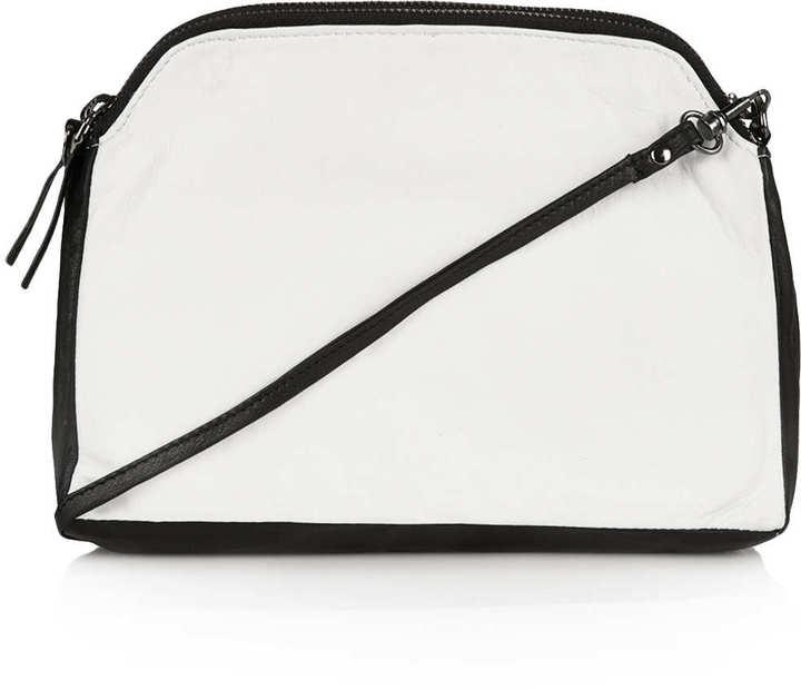 Topshop Double Zip Crossbody Bag