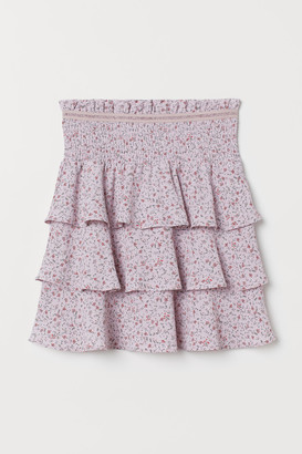 H&M Creped Tiered Skirt - Purple