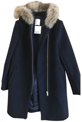 Sandro Fall Winter 2019 Blue Wool Coat for Women