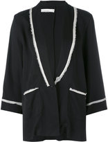 Nostra Santissima - raw trim pajama jacket - women - Tencel - 40