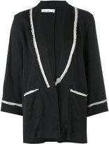 Nostra Santissima raw trim pajama jacket