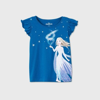 Toddler Girls' Frozen Elsa Short Sleeve T-Shirt -