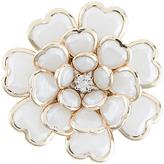 Accessorize Heart Layered Flower Brooch
