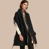 Burberry Fringed Cashmere Merino Wool Stole
