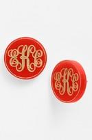 Moon and Lola Women's 'Chelsea' Medium Personalized Monogram Stud Earrings (Nordstrom Exclusive)