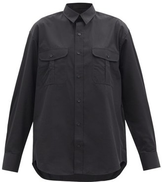 Wardrobe NYC Release 03 Oversized Cotton-poplin Shirt - Black