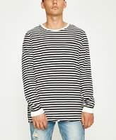 Ksubi Slash Stripe Long Sleeve T-Shirt Pirate Black White