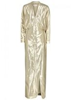 Genny Gold Lamé Gown