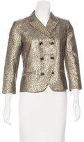 Diane von Furstenberg Metallic Tweed Blazer