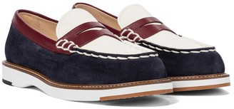 Tod's Suede and leather loafers