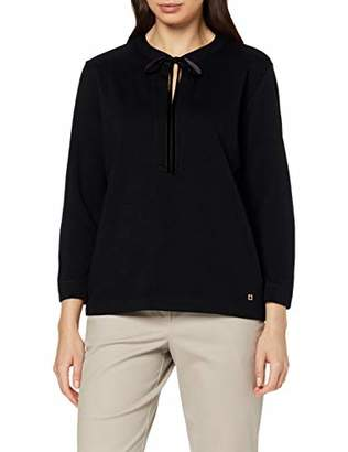 Daniel Hechter Women's Bow Tie Longsleeve T-Shirt, (Beet red 365), (Size:42)