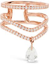 Diane Kordas 18-karat Rose Gold, Diamond And Prasiolite Ring - 7