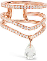 Diane Kordas 18-karat Rose Gold, Diamond And Prasiolite Ring