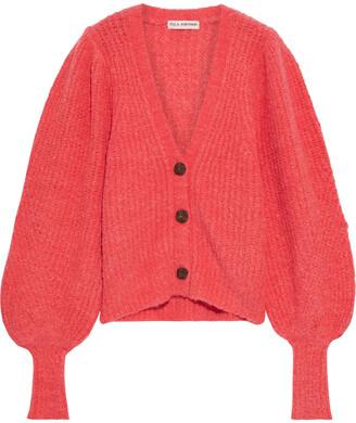 Ulla Johnson Polline Ribbed Boucle-knit Alpaca-blend Cardigan